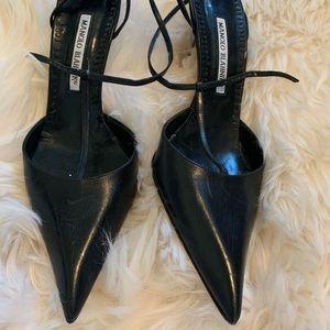 Manolo Blahnik T Strap Heels Size 38
